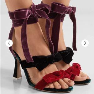 Attico Diletta Bow Sandal Heels